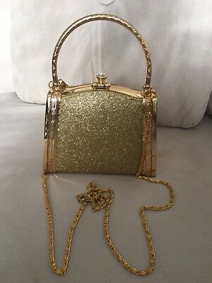 Gold Evening Purse New Without Tags Never Used!