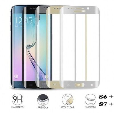 3D Panzerglas 9H Curved Full Cover Tempered Glassfolie für Samsung S6 S7 Edge S8