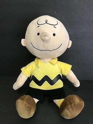 """Peanuts Gang Charlie Brown Plush 14"""" Stuffed Toy Kohl's Cares Great Condition!!"""