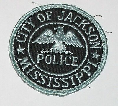 CITY OF JACKSON POLICE MIssissippi Capital City PD MS Used Worn patch