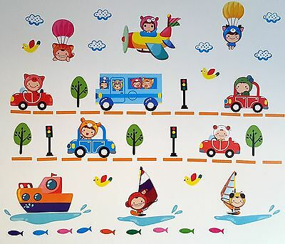 Decorative Car Bus Boat Plane Wall Home Decor Sticker For Kid Baby Children Room