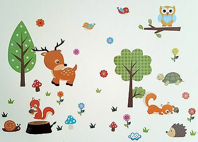 Decorative Forest Animals Wall Home Decor Sticker For Kids Baby Children Room