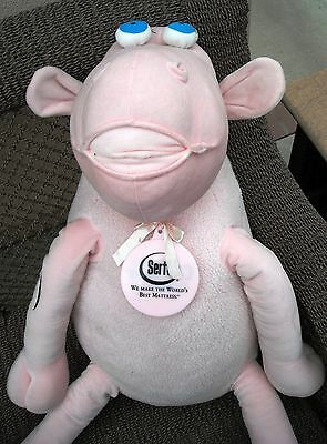Large Pink Serta Sheep #3 (30 Inches from head to tail) - Store Display size