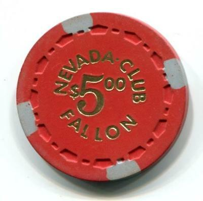 Fallon Nv NEVADA CLUB $5 Casino Chip small crown 1964 CR#N6889