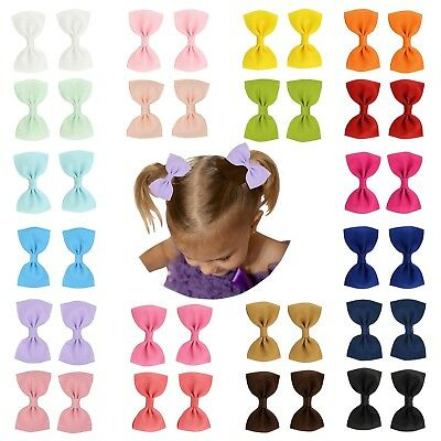 """Prohouse 40 PCS 3"""" inches Baby Girls Ribbon Hair Bow Clips Barrettes For Girl"""
