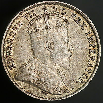 1910 Canada Silver 5 Cent Coin! Nice Detailed High Grade! FREE SHIPPING! 8116