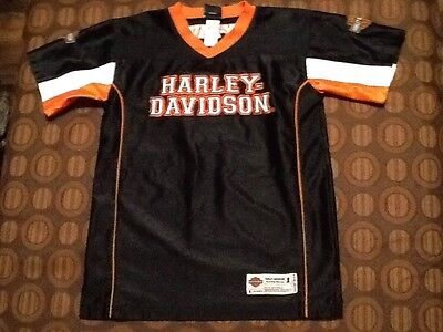 Harley-Davidson 1Youth Size M(12/14) Black S/S World Wide Bike Pass Pullover