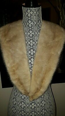 """Beautiful Real Mink  Fur Collar 44"""" Ivory color"""