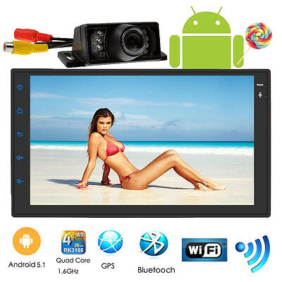 "Quad Core Android 5.1 WIFI 7"" Double 2DIN Car Radio Stereo Autoradio GPS Navi 3G"