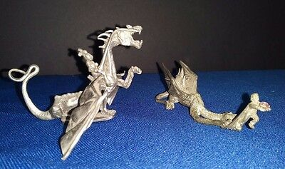 Partha Pewter D&D Dragon - c.1983 PP62 & The Cat and Mouse Game Dragon Figurine