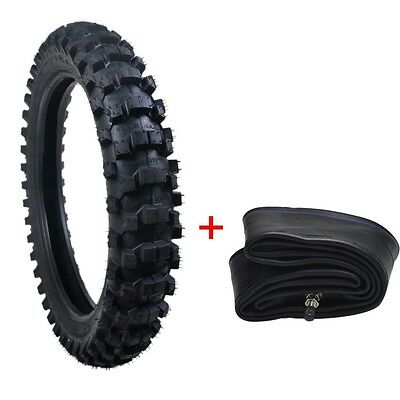 "Rear Knobby Tire 90/100-16 16"" Tyre + Tube for Motorcycle Motocross Off Road"