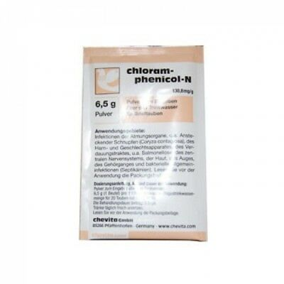 Pigeon Product - Chloramphenicol-N - 6 Sachets - bacterial infec. - by Chevita