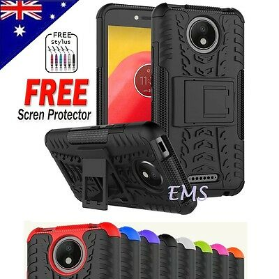 Heavy Duty Tough Kickstand Strong Shockproof Case Cover For Motorola Moto C
