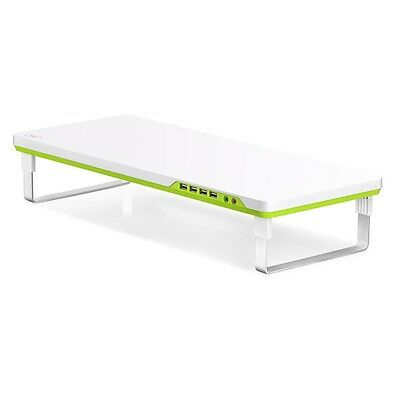 "Deepcool M-Desk F1 Monitor Stand Up To 27"" & 10kg with Audio & 4x USB, GREEN"
