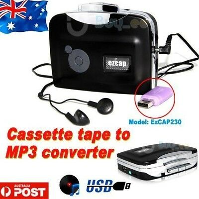Tape to PC USB Cassette-to-MP3 Converter Capture Audio Portable Music Player AU