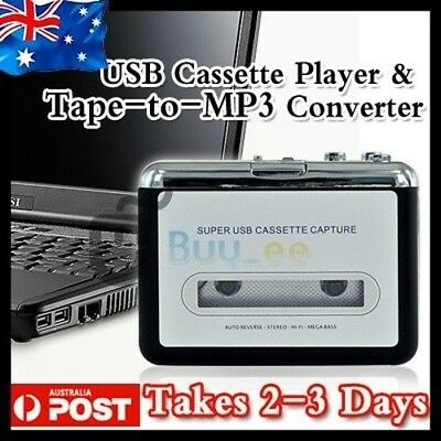 Tape to PC USB Cassette-to-MP3 Converter Capture Adapter Audio Music Player AU