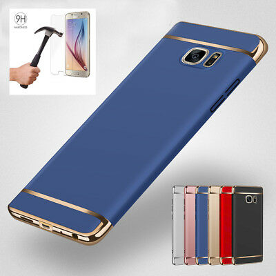 For Samsung S8 S9 &S9 S8Plus Shockproof Hard PC Case Cover with Screen Protector