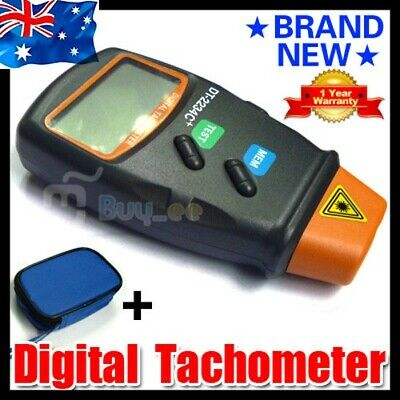 LCD Digital Laser Photo Tachometer Non Contact RPM Tach Last Max Min Value AU