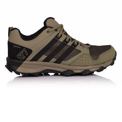 Adidas Kanadia 7 TR Mens Green Gore Tex Running Sports Shoes Trainers Pumps