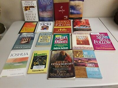 A Lot of 17 Pre-owned Christian Books of a Variety Paperback and Hardback