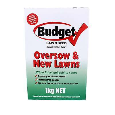 Lawn Seed Budget Oversow and New Lawns Munns 1kg Covers 50sqm