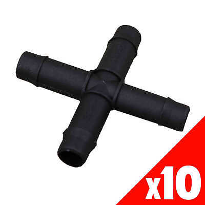 CROSS 13mm Barbed Poly BAG of 10 HRC12 Garden Water Irrigation Hydroponic