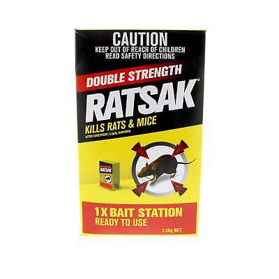 Ratsak Rat Mouse Pellets Bait Station Warfarin Yates  2.5kg