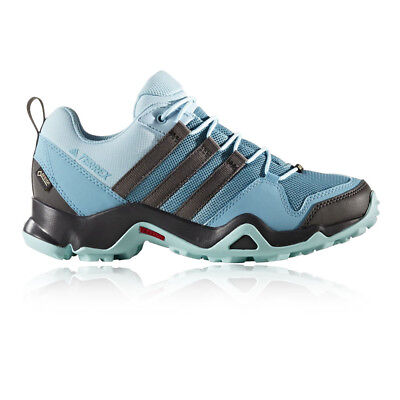 Adidas Terrex AX2R Womens Blue Black Waterproof Walking Trekking Shoes