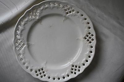 Vintage White Porcelain Dish Plate Made in England