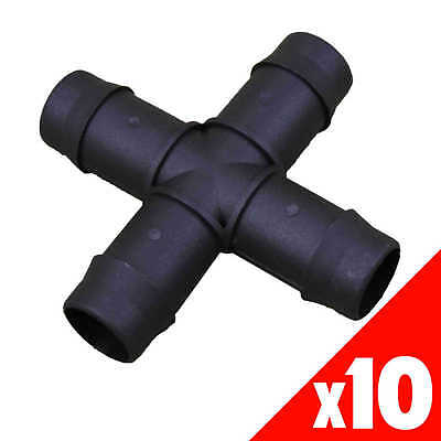 CROSS 19mm Barbed Poly BAG of 10 HRC34 Garden Water Irrigation Hydroponic