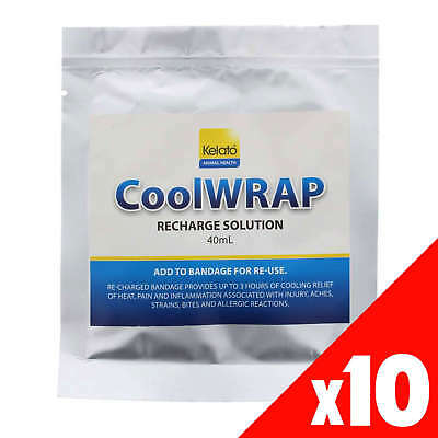 CoolWRAP Recharge Solution Kelato 40ml Horse Equine Pack of 10