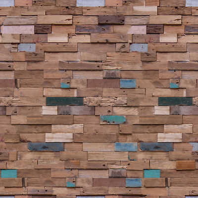 Recycled Teak Wall Paneling DIENG 1 Sq Metre per Box (8 Pieces)