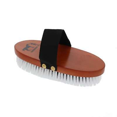 Soft Body Brush Black White 220mm x 95mm Gymkhana Horse Equine Grooming