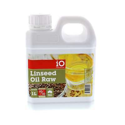 iO Linseed Oil Raw Improve Coat Horse Equine 1L Health Supplement