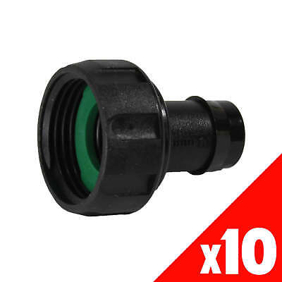 NUT & TAIL 1 Inch BSPF X 19mm Garden Water Irrigation Hydroponic 44035 BAG of 10