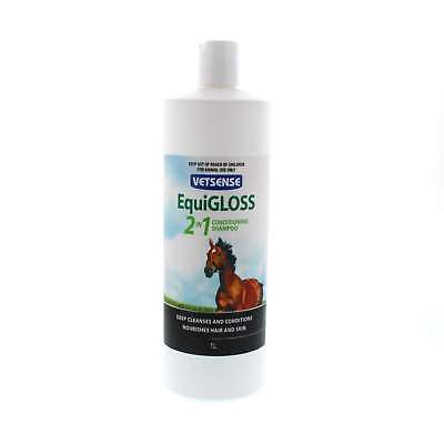 EquiGLOSS 2 In 1 Deep Clean and Condition Vetsense Horse Equine 1L