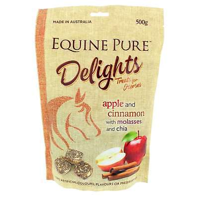 Equine Pure Delights Horse Treat Apple and Cinnamon with Molasses and Chia 500g