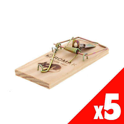 Mouse Trap Wooden Romak Small Pack of 5 Easy To Use Simple And Effective