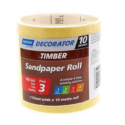 Sandpaper 80 Grit 115mm x 10m Roll Very Coarse Heavy Stripping Timber Norton