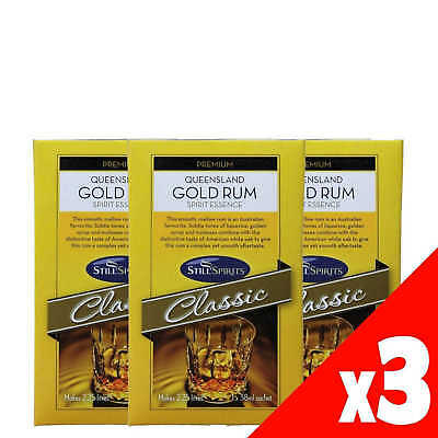 Still Spirits QUEENSLAND GOLD RUM 1x38ml Sachet Makes 2.25L 3 Pack Home Brew