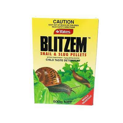 Blitzem Snail And Slug Pellets Child Taste Deterrent Mould Resistant Yates 500g