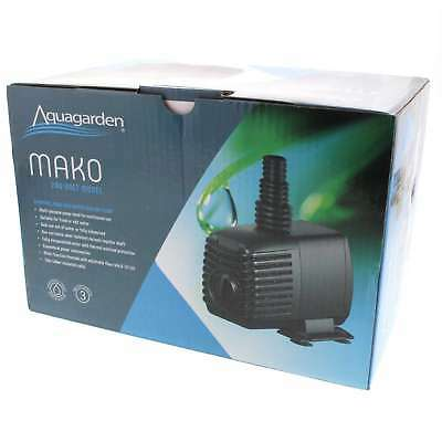 Pond Pump Mako 1500 20W Max Flow 1400 L/h Max Head 1.8m 10m Cable Water Feature