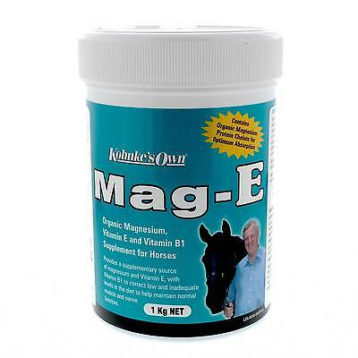 Mag-E 1kg Kohnke's Own Horse Equine Health Supplement Magnesium Vitamin E B1