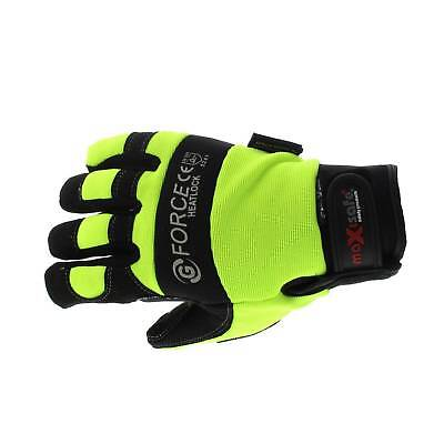 G-Force Heatlock Mechanics Gloves Large Pair Safety Neoprene Breathable Leather