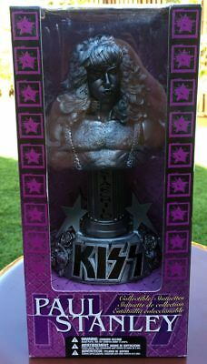 KISS Paul Stanley RARE Pewter Bust Collectible Statuette 2002 McFarlane