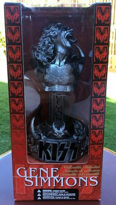 KISS Gene Simmons RARE Pewter Bust Collectible Statuette 2002 McFarlane