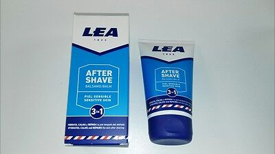 Lea Sensitive Skin ultra cooling 3 in 1 Aftershave Balm 125ml tube UK stock