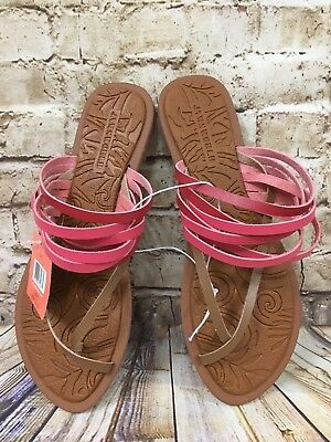 Jams World Women's Ono Pink Tan Slip On Slippers Size 8 New