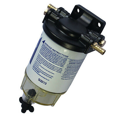 """New 3/8"""" NPT Water Separating Fuel Filter System S3213 for Marine outboard Motor"""