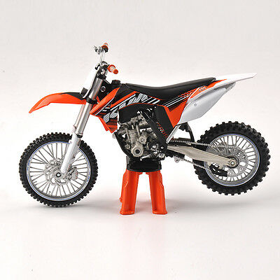 1/12 KTM 350SX-F Racing Motorcycle Model Orange Motorbike Display with Support